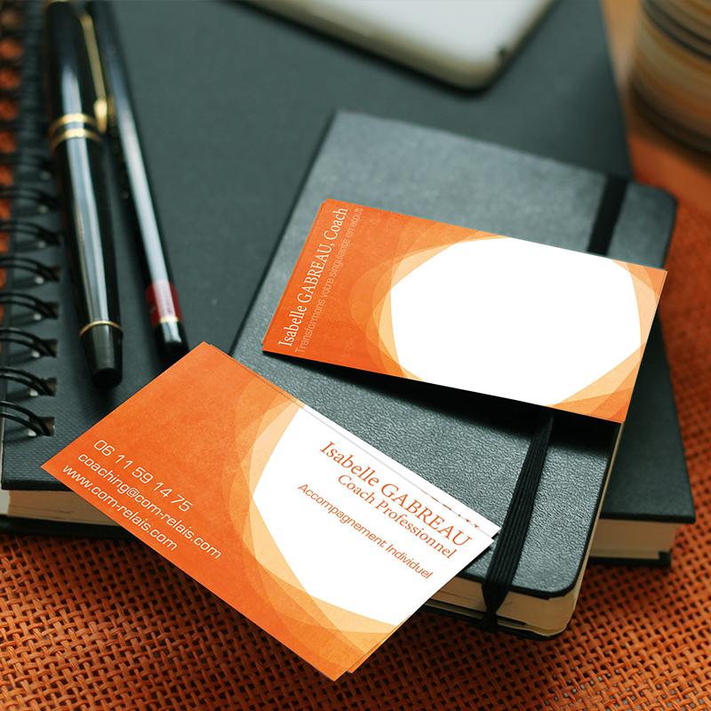 cartes de visite pour une conseillère en stratégie de communication et coach professionnel - ordesign graphiste print et web