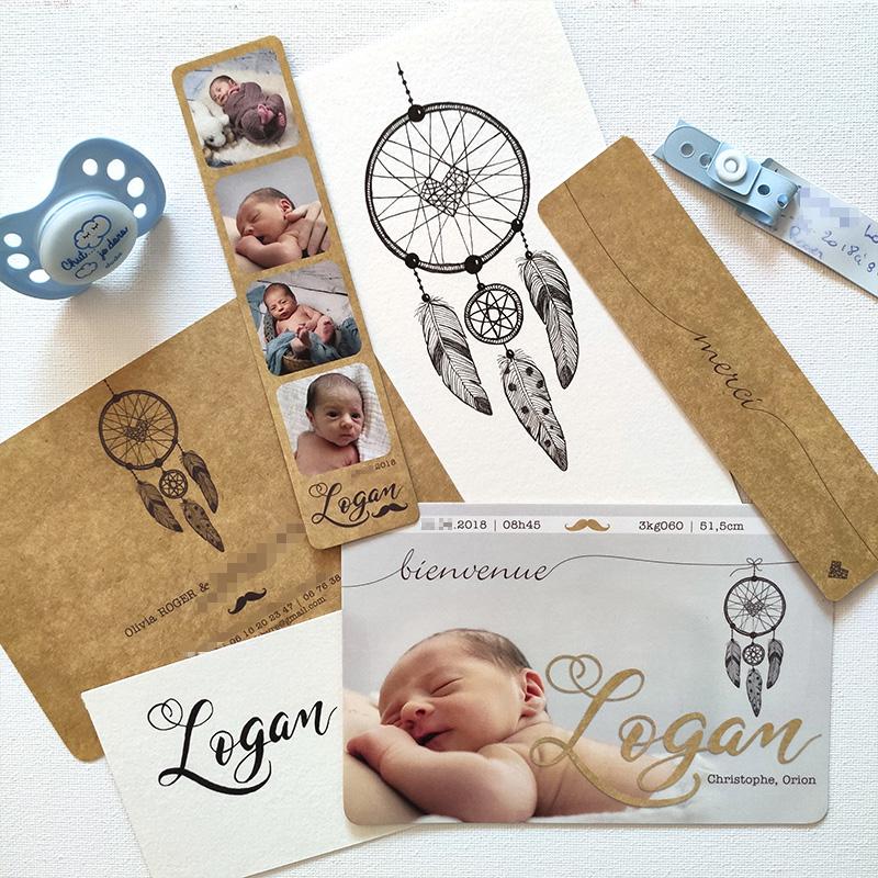 faire-part de naissance - ordesign graphiste print et web