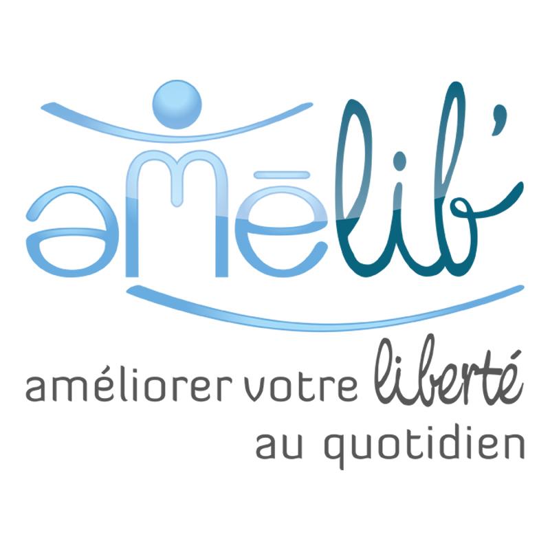 logo Amélib' : aménagement de domicile pour PMR - ordesign graphiste et webdesigner