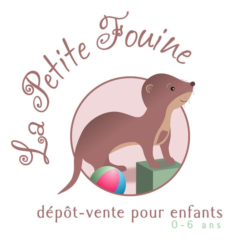 logo La Petite Fouine, dépôt-vente pour enfants - ordesign graphiste webdesigner