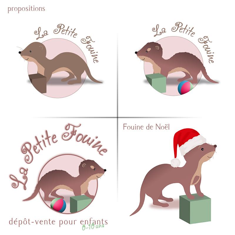 logo La Petite Fouine, dépôt-vente pour enfants - ordesign graphiste et webdesigner