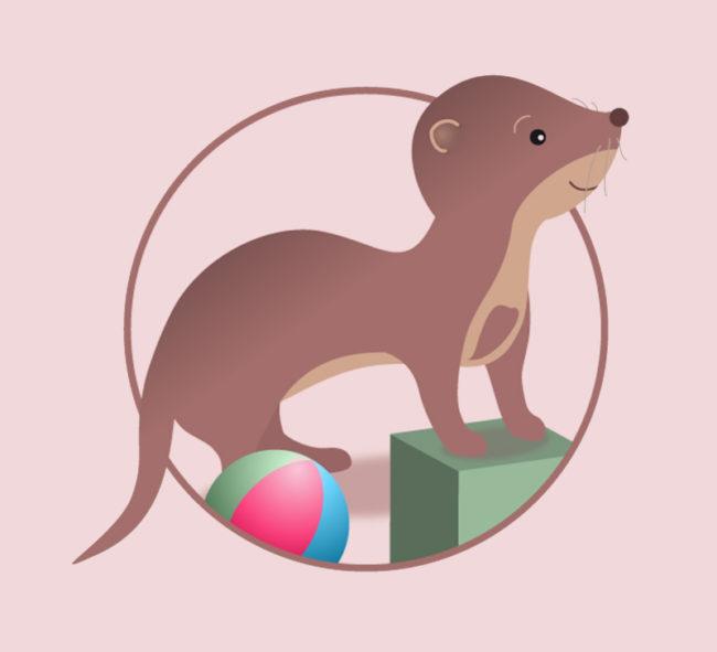 logo La Petite Fouine, dépôt-vente pour enfants (vignette) - ordesign graphiste webdesigner