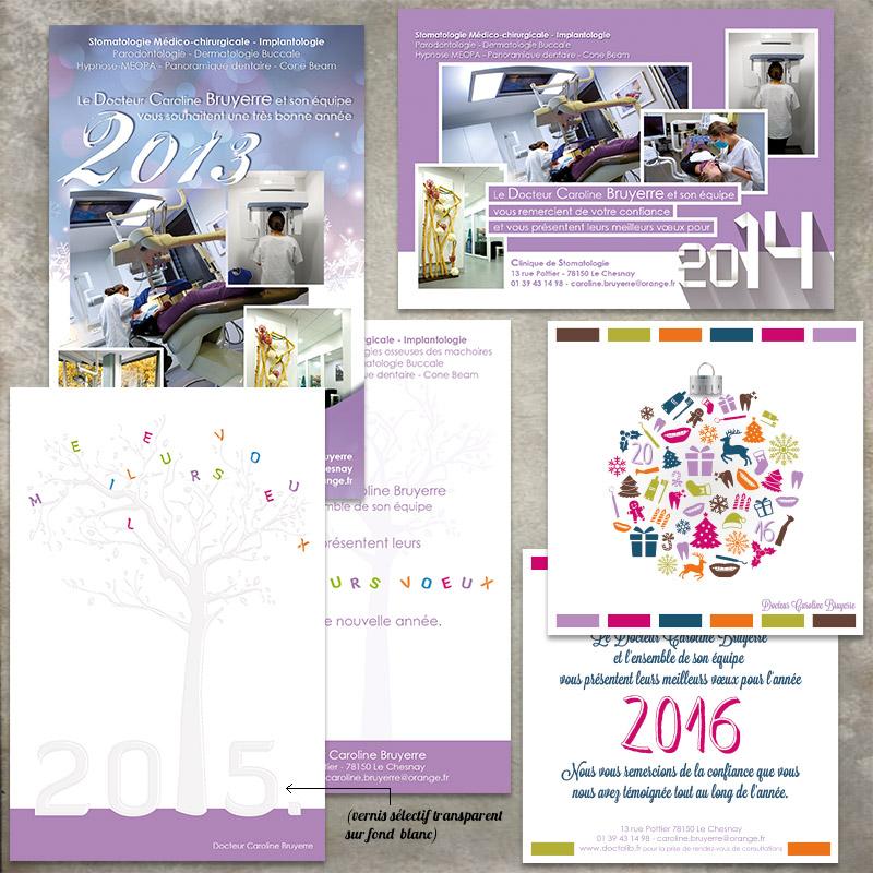 carte de voeux stomatologue - ordesign graphiste webdesigner