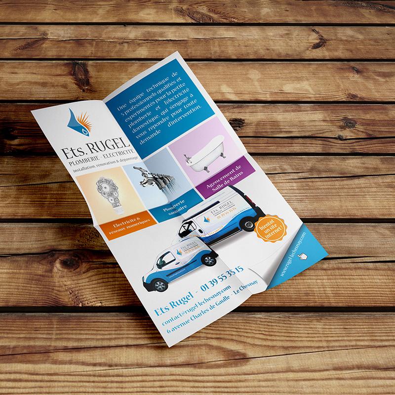 flyer entreprise plomberie électricité - ordesign graphiste webdesigner